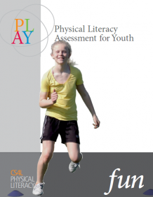 The image depicts the cover for the PLAYFun resource page with a young girl running
