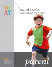 The image depicts the cover for the PLAYParent resource page with a young boy running